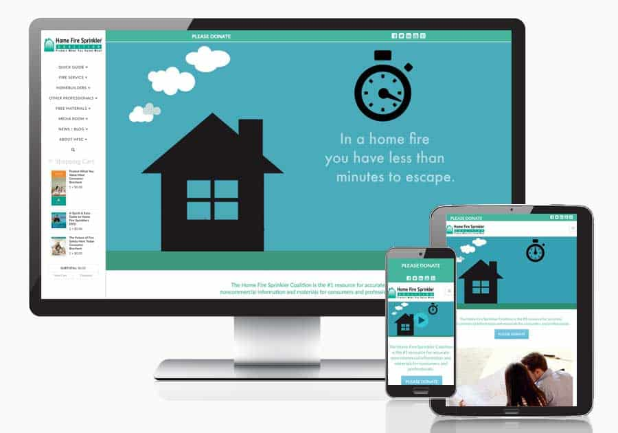 homefiresprinkler.org responsive website